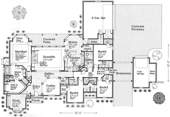 European Style House Plans 3423 Square Foot Home 1