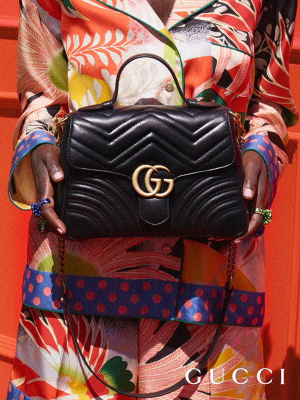 From Gucci Cruise 2018, new GG Marmont top handle bags feature a softly  structured shape and an oversized flap closure with Double G hardware by  Alessandro ... 0d506af2ff