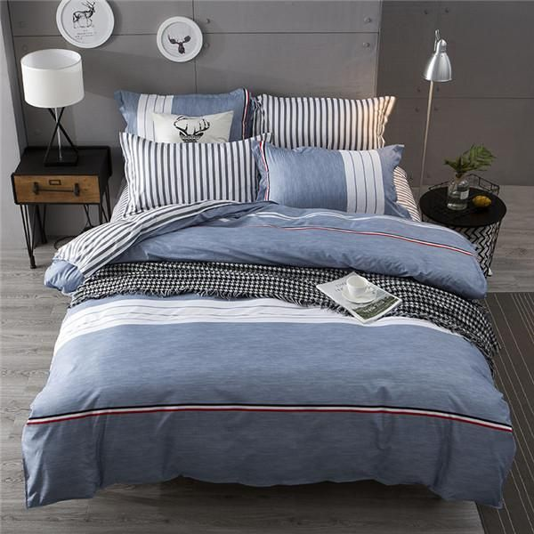 Looking For A Cool Casual Style Our Distressed Denim Look Quilt Cover And Sheet Set Will Give Your Room And Bed Linens Luxury Bed Linen Sets Bed Duvet Covers