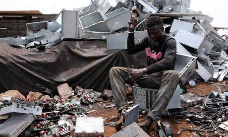 """Africa Is Not A Dumping Ground! http://www.computers4africa.org.uk/news/index.php?story=115 """"action must be taken to stem the import of electronic waste to Africa, which is shipped abroad for disposal""""  """"e-waste should be disposed of appropriately through recycling and Africa should not become a digital dumping ground for Europe."""" [Follow the link to read the article]"""