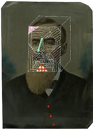 James Joyce, 2012 Tintype with hand-applied oil paint, 14 x 10 inches