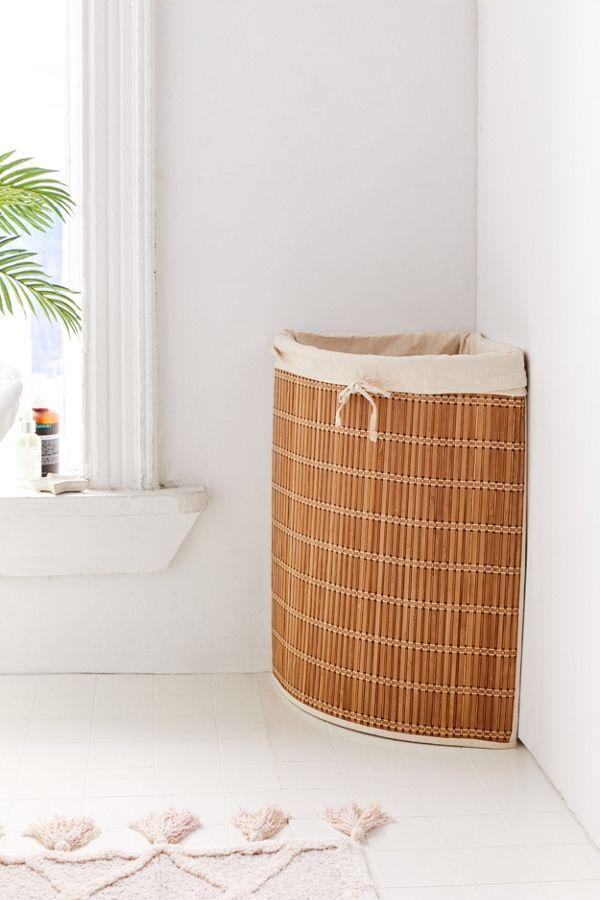 Wicker Corner Hamper Furniture For Small Spaces Home Decor Decor