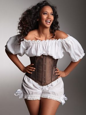 Edwardian bloomers are made of soft 100% cotton fabric with a comfortable elastic waist, ruffled hem has an elastic band, delicate lace trim and bows on the side.Shorts Bloomers, Underbust Corset, Shoulder Crop, Crop Blouses, Edwardian Cotton, Plus Size Lingerie, Lace Shorts, Cotton Lace, Steampunk Clothing