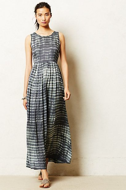 Shibori Maxi Dress - anthropologie.com #shibori #japanesetiedye #textileart