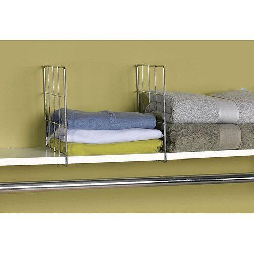 Household Essentials 2pc Wire Shelf Divider Set $7.97