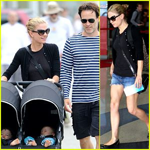 Anna Paquin(Sookie True Blood) & Stephen Moyer(Bill True Blood): Sunday Stroll with the Twins Poppy and Charlie