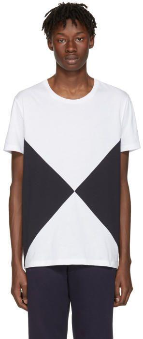 Burberry White Fallow Flag Diamond T-Shirt