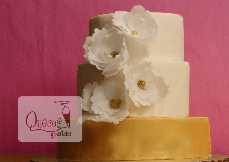 Wedding cake! www.quecosypasteles.com.mx