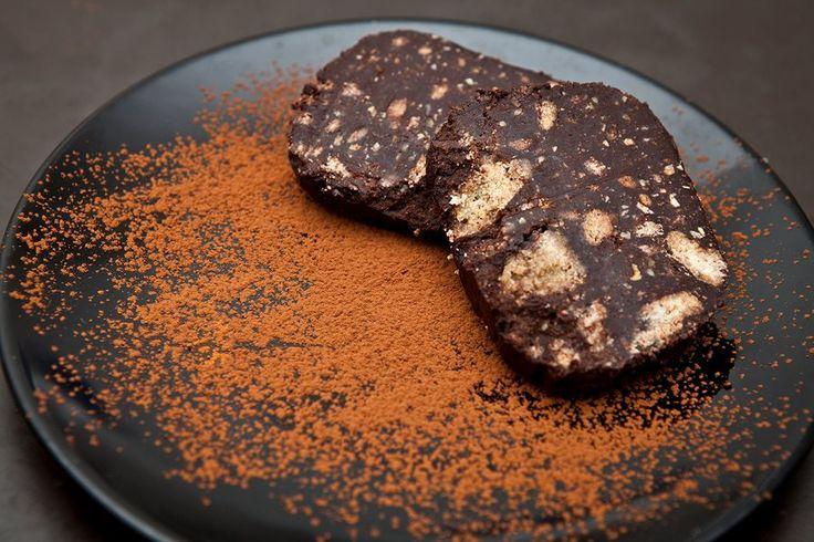Salame di cioccolato (vegan chocolate salami)