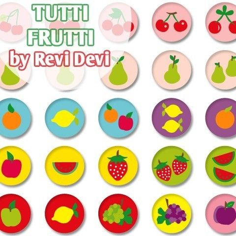 Tutti Frutti 16131  Printable Circle 1313  by BlessedShop on Etsy