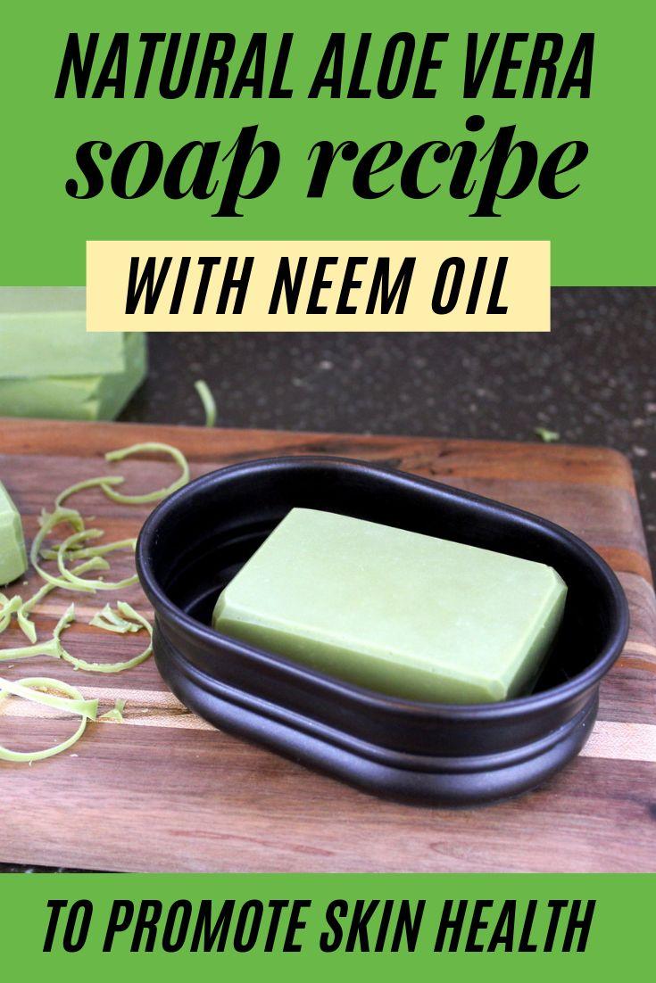Aloe Soap Rezept mit Neemöl zur Beruhigung der Haut und zur Beruhigung von Entzündungen – Beauty Tips