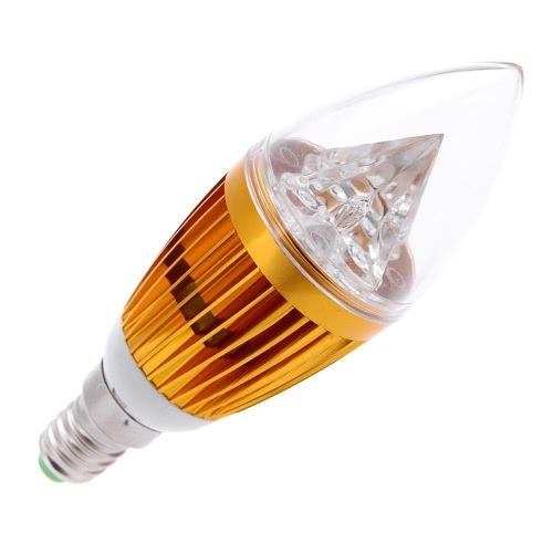 AC110V 8W E14 LED Candle Bulb Light Golden Dimmable Chandelier Lamp Practical Decorative Energy-saving Home Lighting Fixture White
