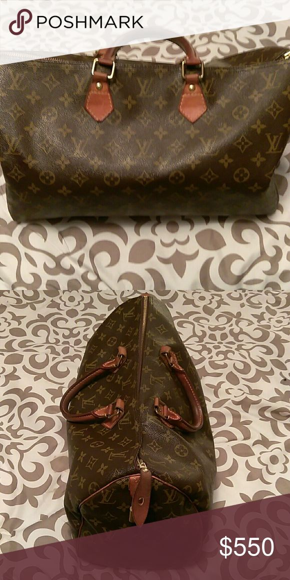 Louise Vuitton Brown leather coach with strap Louis Vuitton Bags Totes