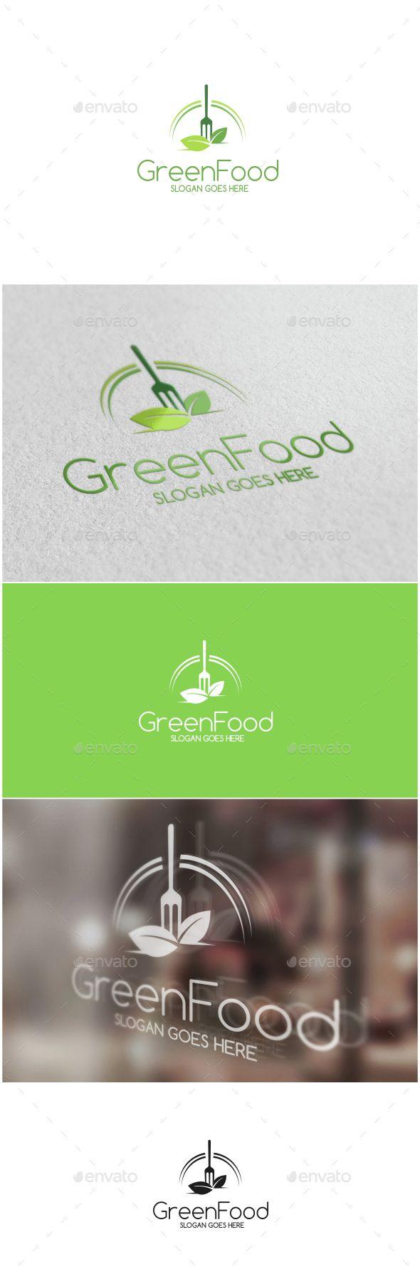 Green Food Logo Template Vector EPS, AI Illustrator. Download here: http://graphicriver.net/item/green-food-logo/15249521?ref=ksioks