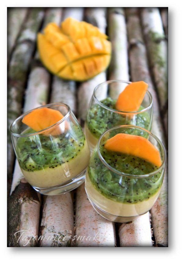 Budyń z kaszy jaglanej z mlekiem kokosowym, mango, kiwi i kaki – Tajemnice smaku