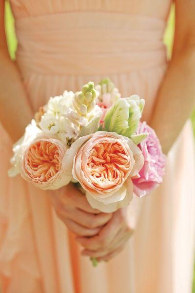 peaches & pink bouquet