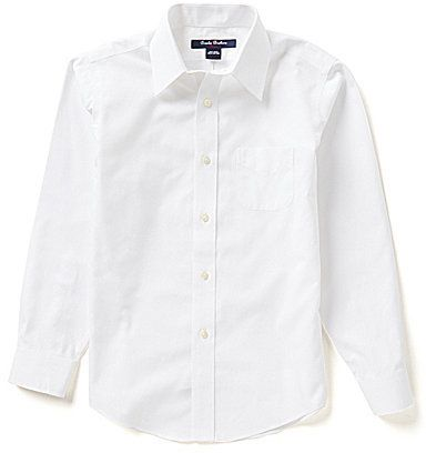 Brooks Brothers Little/Big Boys 4-20 Mini Oxford Point Collar Dress Shirt