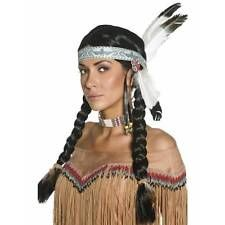 Ladies Red Indian Native Wild West Fancy Dress Costume Beaded Necklace CHOKER