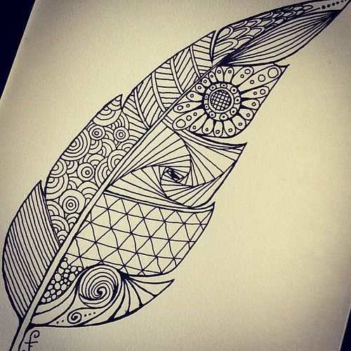 zentangle feathers - Google Search