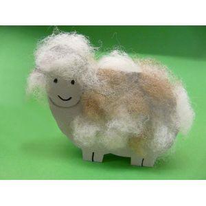 Ein #Schaf basteln mit Tonkarton oder Fotokarton | Bastelanleitung gibt es bei uns gratis: http://www.trendmarkt24.de/bastelideen.basteln-schaf.html#p