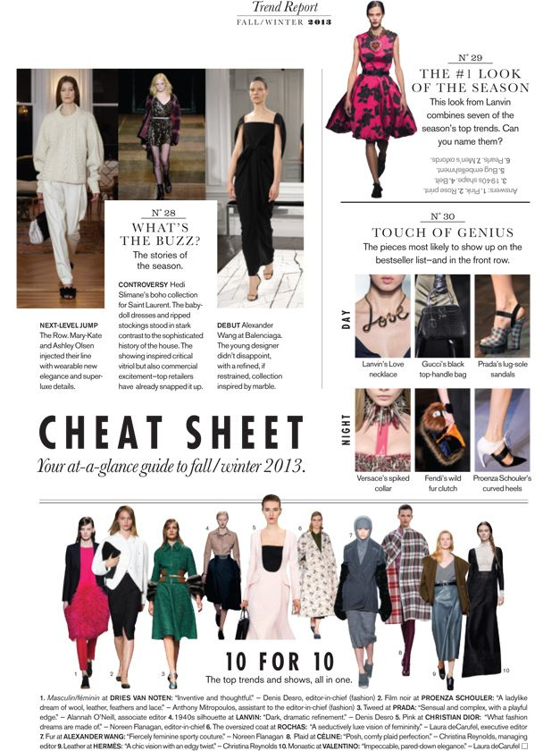 Fall 2013 Trend Report : Fall 2013 Trend Report: Cheat ...