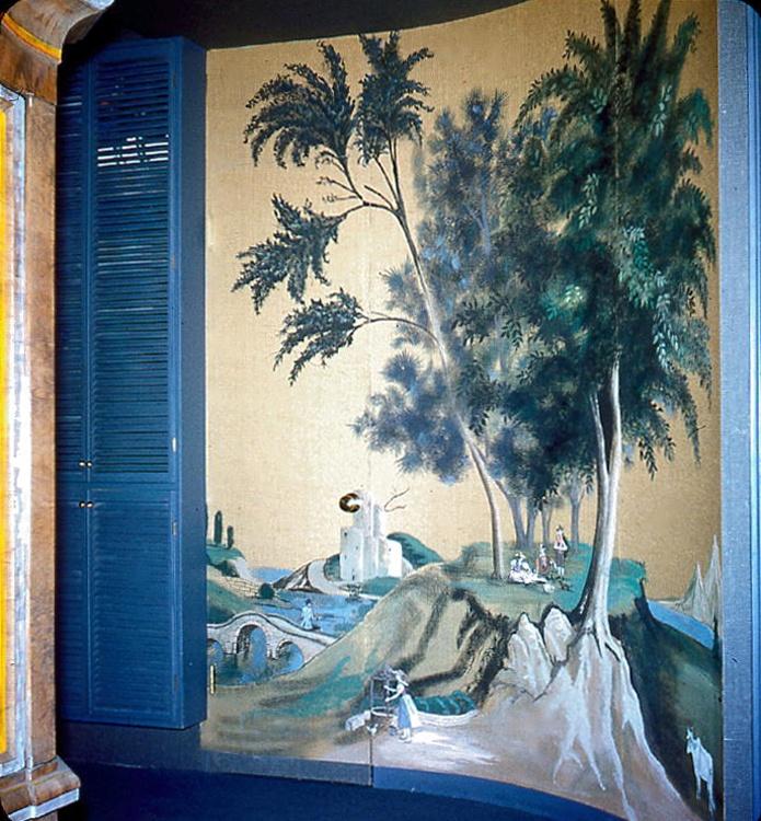 Mural. Tony Duquette interior design