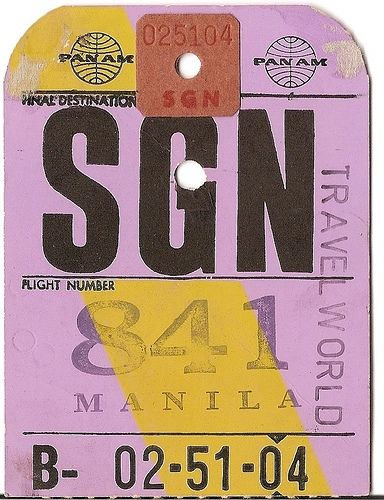 Typography: Graphic Design, Tags, Panam, Sgn Ho, Vintage, Ticket, Pan Am, Photo