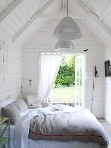 shed bedroom | lamb & blonde: Beautiful White Bedrooms