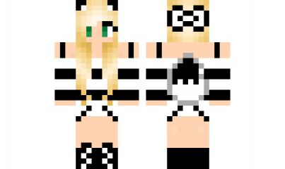 minecraft skin black-and-white-wolf-girl Find it with our new Android Minecraft Skins App: https://play.google.com/store/apps/details?id=studio.kactus.girlskins
