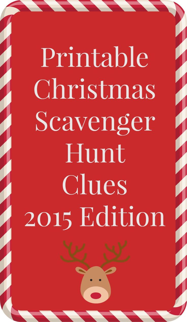 "This year's printable Christmas scavenger hunt clues are here! The Christmas scavenger hunt has been a Christmas Eve tradition in my family for decades, and it ended with my brother and I getting to open one special present that evening. You can get the background and fun reasons why you should do a scavenger hunt... <a href=""http://www.chicagonow.com/between-us-parents/2015/12/printable-christmas-scavenger-hunt-clues-2/"" class=""more-link"">Read more »</a>"