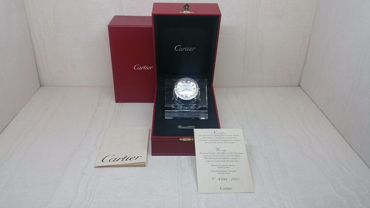 CARTIER CRYSTAL INKPOT WITH WATCH LIMITED EDITION REF. T1220194