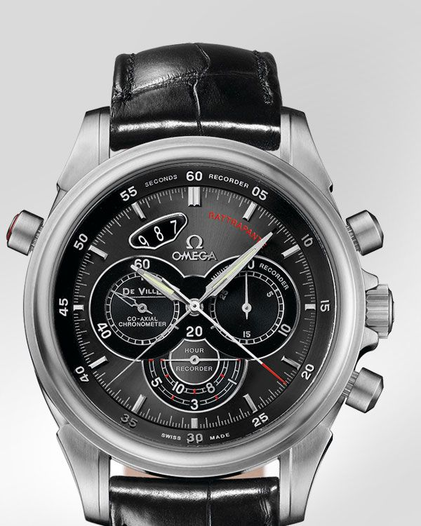 OMEGA - DE VILLE 4 COUNTERS CHRONO, Steel on Leather Strap