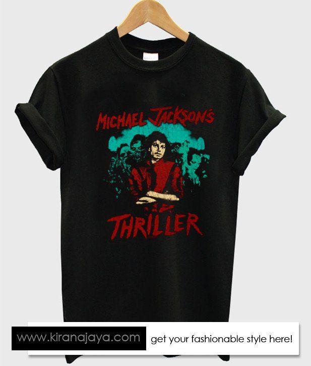 michael jackson thriller tshirt