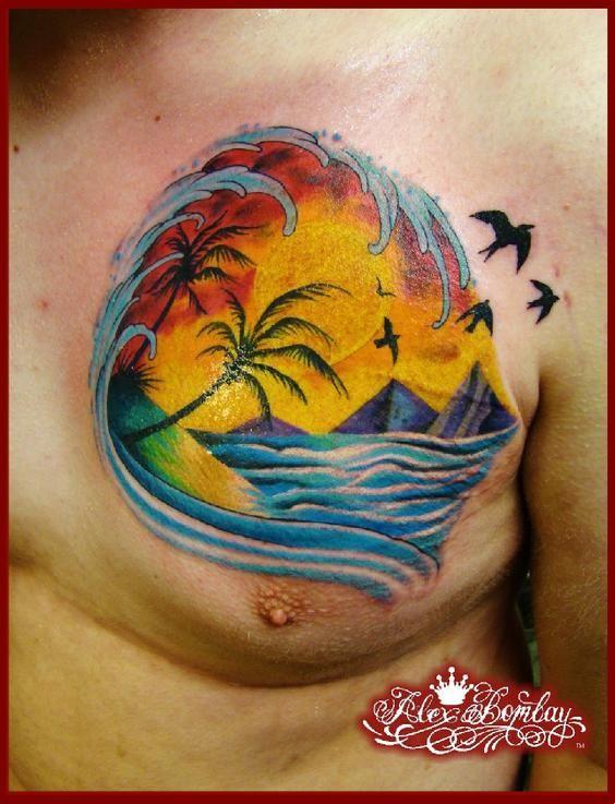 25+ bästa idéerna om Sunrise tattoo på Pinterest