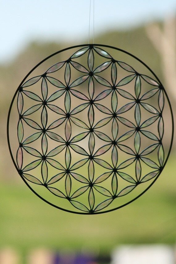 Sacred geometry suncatcher flower of life stained glass Mandala  yoga by Mownart on Etsy https://www.etsy.com/listing/118692924/sacred-geometry-suncatcher-flower-of