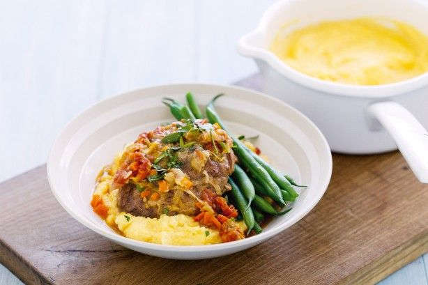 Healthy meets hearty in this version of Italian slow-cooked veal and vegies.