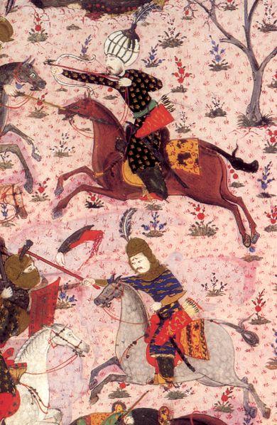 Two leaders of the Akıncı in the Battle of Mohács, 1526-Süleymanname-Nakkaşhane