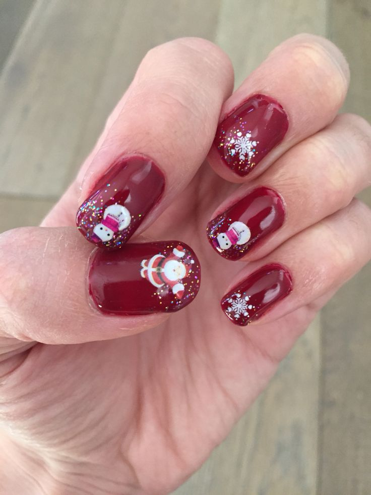 17 best ideas about christmas gel nails on pinterest