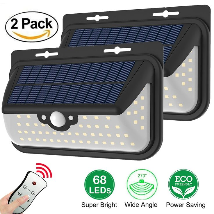 Solar Lights Outdoor Motion Sensor Wall Light Waterproof Wireless Ed Security With Remote Control
