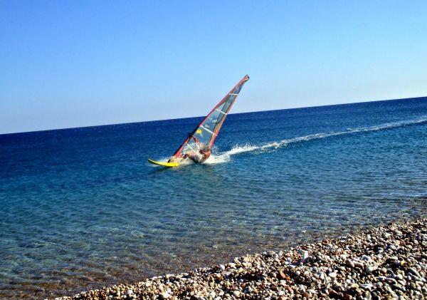 Windsurfer close to Faliraki