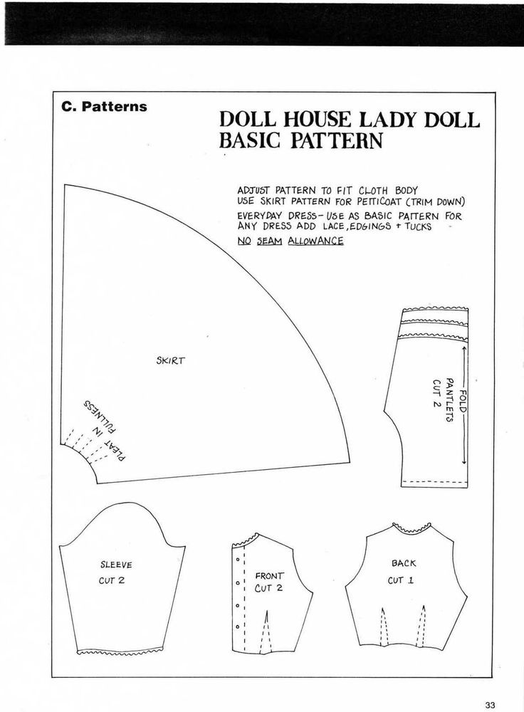 17 Best Images About Clothes Patterns On Pinterest Doll