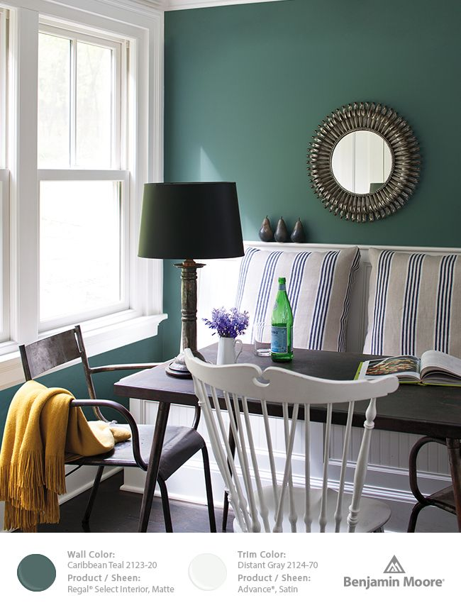 Benjamin moore caribbean teal 2123 20 for the home for Dining room 2014 trends