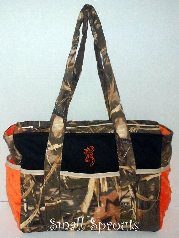 Buck Brown in Orange/Advantage Max 4HD Camo by smallsproutsbaby, $114.00