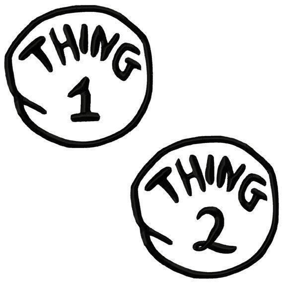 Thing 1 and Thing 2 Tee Shirt Iron On Transfer / Heat Transfer Sheet in Crafts, Sewing & Fabric, Sewing | eBay