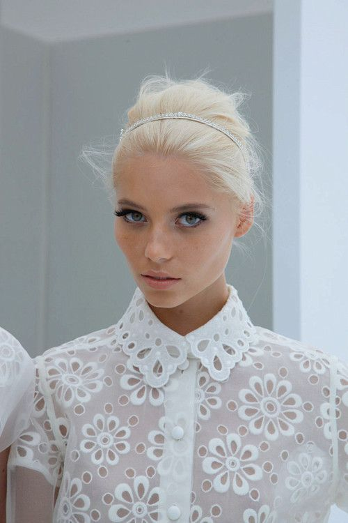 Giant broderie Anglaise white cotton blouse