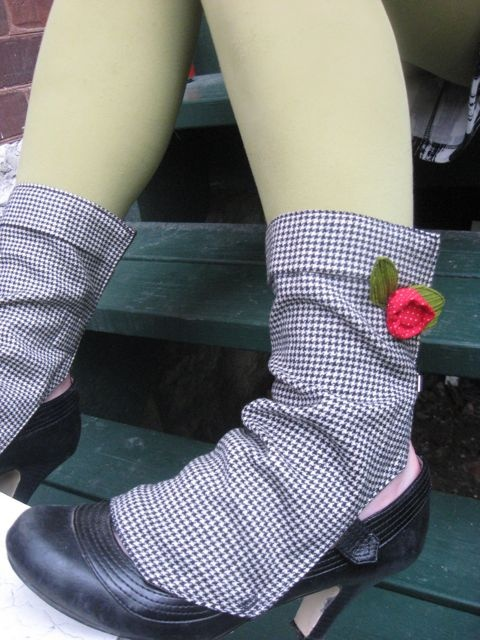 Houndstooth Spats with Rose by morgan cleopatra