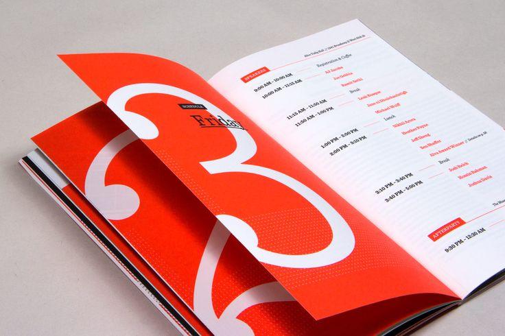 modern brochure design inspiration - 99u design conference program pinteres