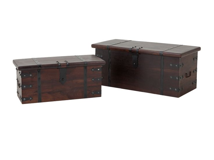 INDIA Kista 2-pack Mörkbrun i gruppen Inomhus / Bord / Soffbord hos Furniturebox (100-99-102216)