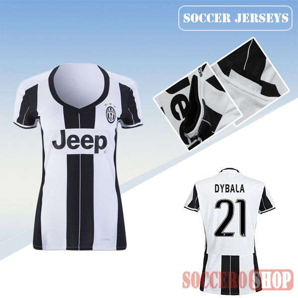 de3dfb28c ... newest cool juventus black white 2016 17 home womens replica jersey  with dybala ...