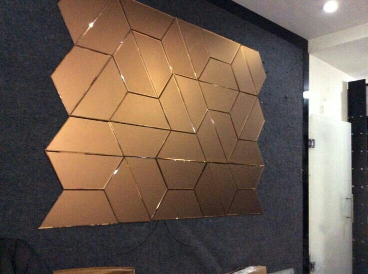 Wall Mirror wall mirror images : C bronze mirror hex c18 : cladding wall and furniture ...